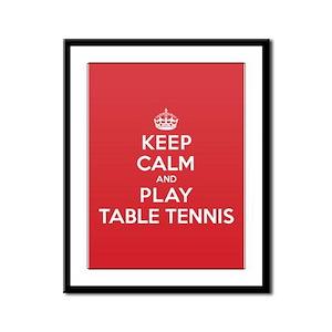 Keep Calm Play Table Tennis Framed Panel Print