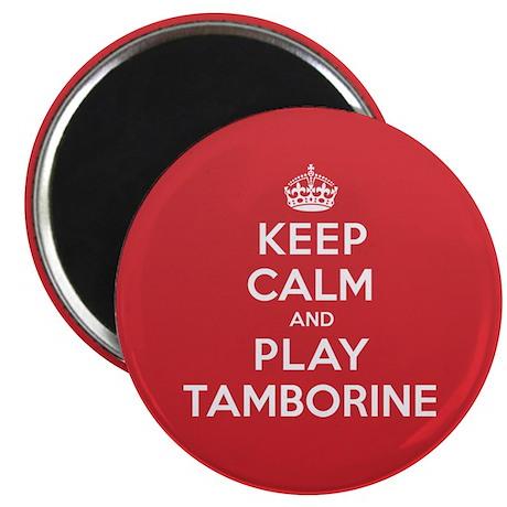 Keep Calm Play Tamborine Magnet
