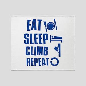 Eat Sleep Climb Throw Blanket