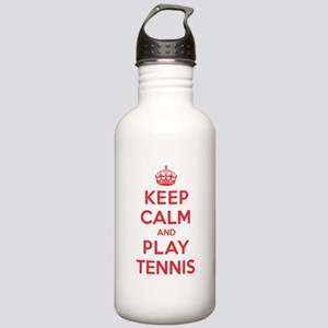 Keep Calm Play Tennis Stainless Water Bottle 1.0L