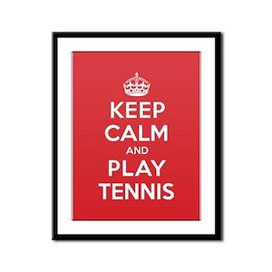 Keep Calm Play Tennis Framed Panel Print