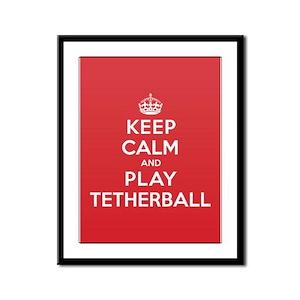 Keep Calm Play Tetherball Framed Panel Print