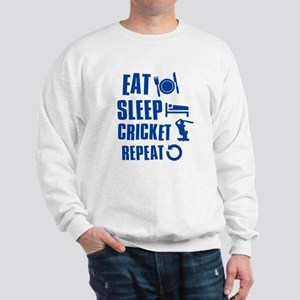 Eat Sleep Cricket Sweatshirt