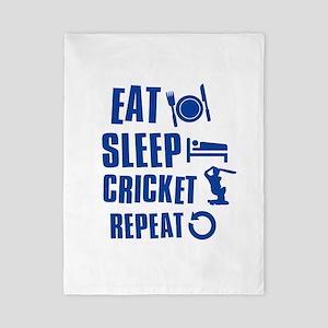 Eat Sleep Cricket Twin Duvet