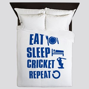 Eat Sleep Cricket Queen Duvet