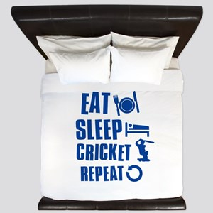Eat Sleep Cricket King Duvet