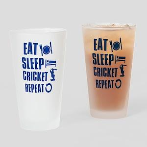 Eat Sleep Cricket Drinking Glass
