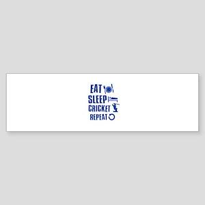 Eat Sleep Cricket Sticker (Bumper)