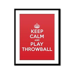 Keep Calm Play Throwball Framed Panel Print