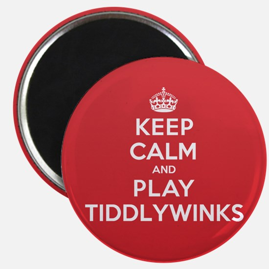 Keep Calm Play Tiddlywinks Magnet
