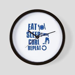 Eat Sleep Curl Wall Clock