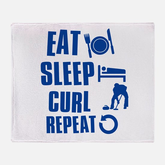 Eat Sleep Curl Throw Blanket