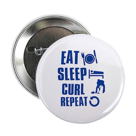 "Eat Sleep Curl 2.25"" Button (100 pack)"