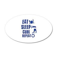 Eat Sleep Curl Wall Decal