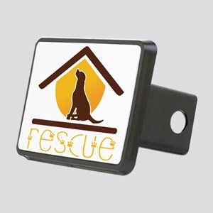 rescue dog Rectangular Hitch Cover