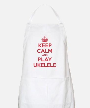 Keep Calm Play Ukelele Apron
