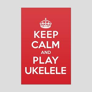 Keep Calm Play Ukelele Mini Poster Print