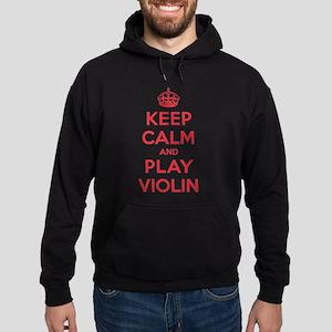 Keep Calm Play Violin Hoodie (dark)
