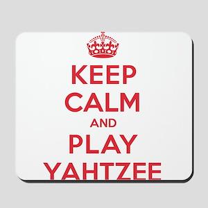 Keep Calm Play Yahtzee Mousepad