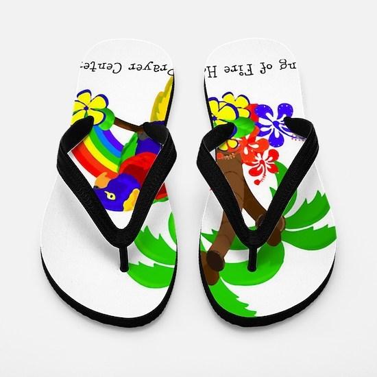 Ring of Fire Parrot Flip Flops
