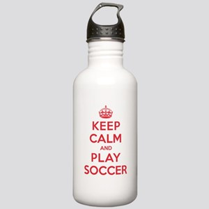 Keep Calm Play Soccer Stainless Water Bottle 1.0L