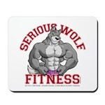 Serious Wolf Fitness Mousepad