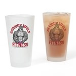 Serious Wolf Fitness Drinking Glass