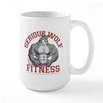 Serious Wolf Fitness Large Mug
