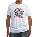 Serious Wolf Fitness Fitted T-Shirt