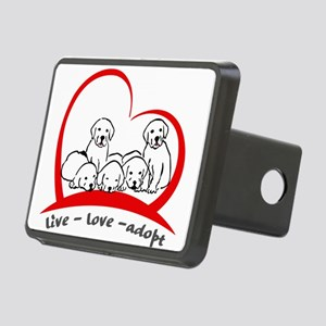 live love adopt Rectangular Hitch Cover
