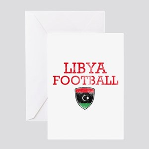 Libya Football Greeting Card