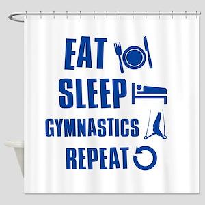 Eat Sleep Gymnastics Shower Curtain