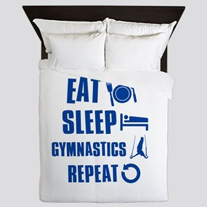 Eat Sleep Gymnastics Queen Duvet