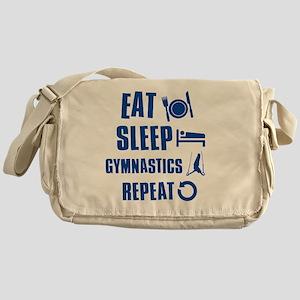 Eat Sleep Gymnastics Messenger Bag