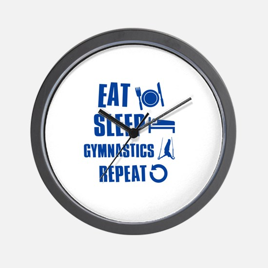 Eat Sleep Gymnastics Wall Clock