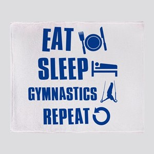 Eat Sleep Gymnastics Throw Blanket