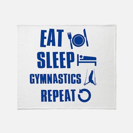 Eat Sleep Gymnastics Throw Blanket
