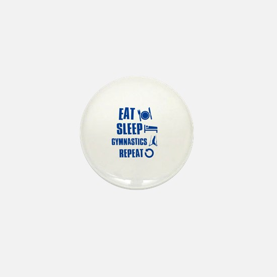 Eat Sleep Gymnastics Mini Button