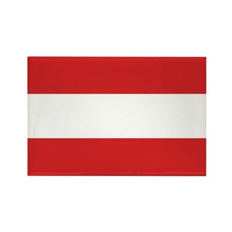 Austria Flag Rectangle Magnet