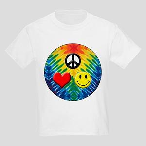 PEACE HEART HAPPY CIRCLE 7X7 T-Shirt