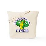 Serious Green Dragon Tote Bag