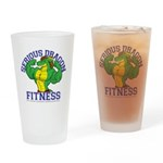 Serious Green Dragon Drinking Glass