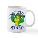 Serious Green Dragon Mug