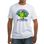 Serious Green Dragon Fitted T-Shirt