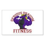Serious Purple Dragon Sticker (Rectangle 10 pk)