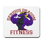 Serious Purple Dragon Mousepad