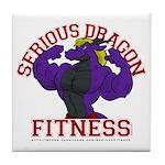 Serious Purple Dragon Tile Coaster