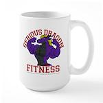 Serious Purple Dragon Large Mug