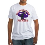 Serious Purple Dragon Fitted T-Shirt