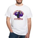 Serious Purple Dragon White T-Shirt